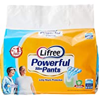 Lifree Powerful Slim Pants, L, 10 Count, (Pack of 4)
