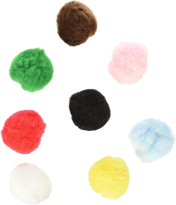 Darice Acrylic Pom Poms 8 pieces w Dark Yellow 2 inches
