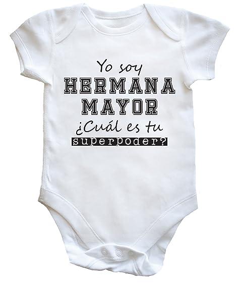 HippoWarehouse Yo Soy Hermana Mayor, ¿Cuál es tu Superpoder? body bodys pijama niños niñas unisex: Amazon.es: Ropa y accesorios