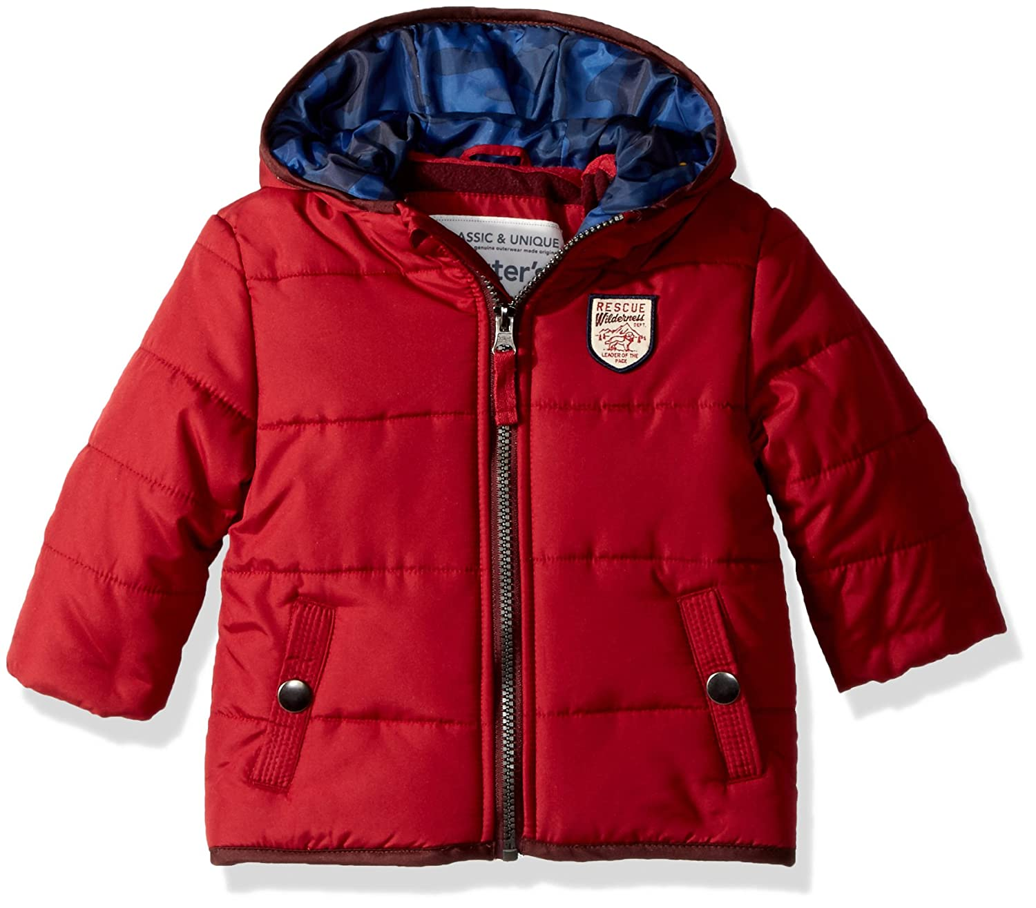 Carter's Baby-Boys Baby Boys Heavyweight Classic Bubble Jacket Red 24MO Amerex Group C216630-HO-RED-24MO
