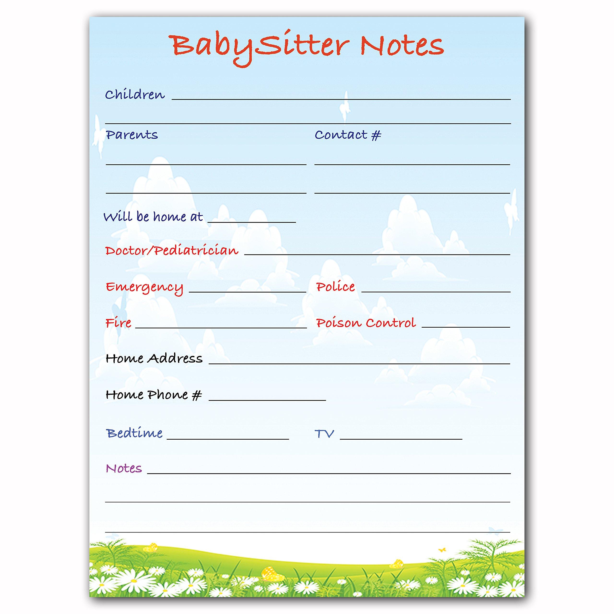 Magnetic Babysitter Dry Erase Memo Info. Board For Fridge (Babysitter) by Precision Works (Image #2)