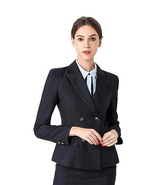 58683c24083e Rojeam Donna Elegante Tailleur Pantalone Tailleur Gonna Classico per  Ufficio Donna Giacca Camicia per Primavera Autunno Inverno  Amazon.it   Abbigliamento
