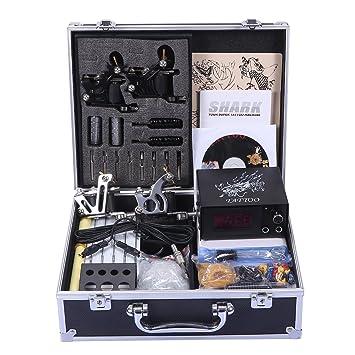 Amazon Shark Professional Tattoo Kit 4 Machines Gun Carry Case