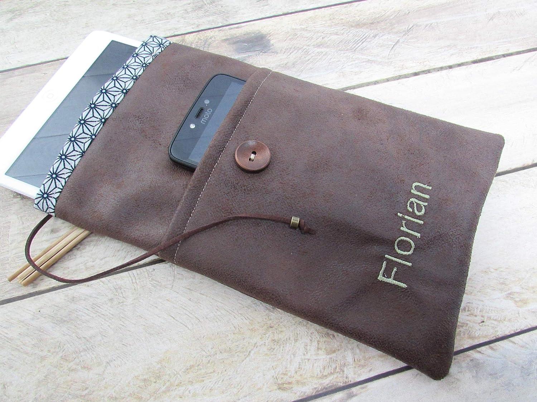 Housse de protection personnalisée - tablette - ipad - mobile dimension au choix, cadeaux personnalisé, anniversaire, noël