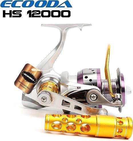 ecooda Hornet Heavy Duty Metal Spinning caña de Pesca carretes ...