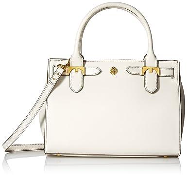 Anne Klein Jessica Small Satchel, Off White: Handbags: Amazon.com