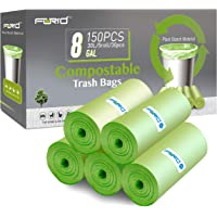 Compostable Trash Bags - FORID 8 Gallon Garbage Bags 150 Count Trash Can Liners 30 Liter Unscented Medium Wastebasket…