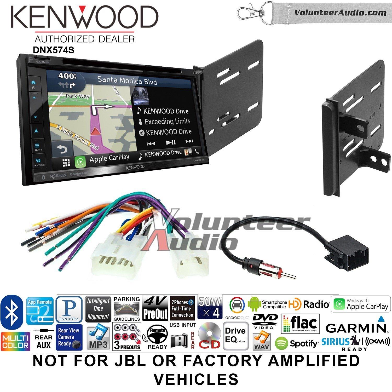 ボランティアオーディオKenwood dnx574sダブルDINラジオインストールキットwith GPSナビゲーションApple CarPlay Android自動Fits 2013 – 2015 fr - s、br-z B07C2B8RCV