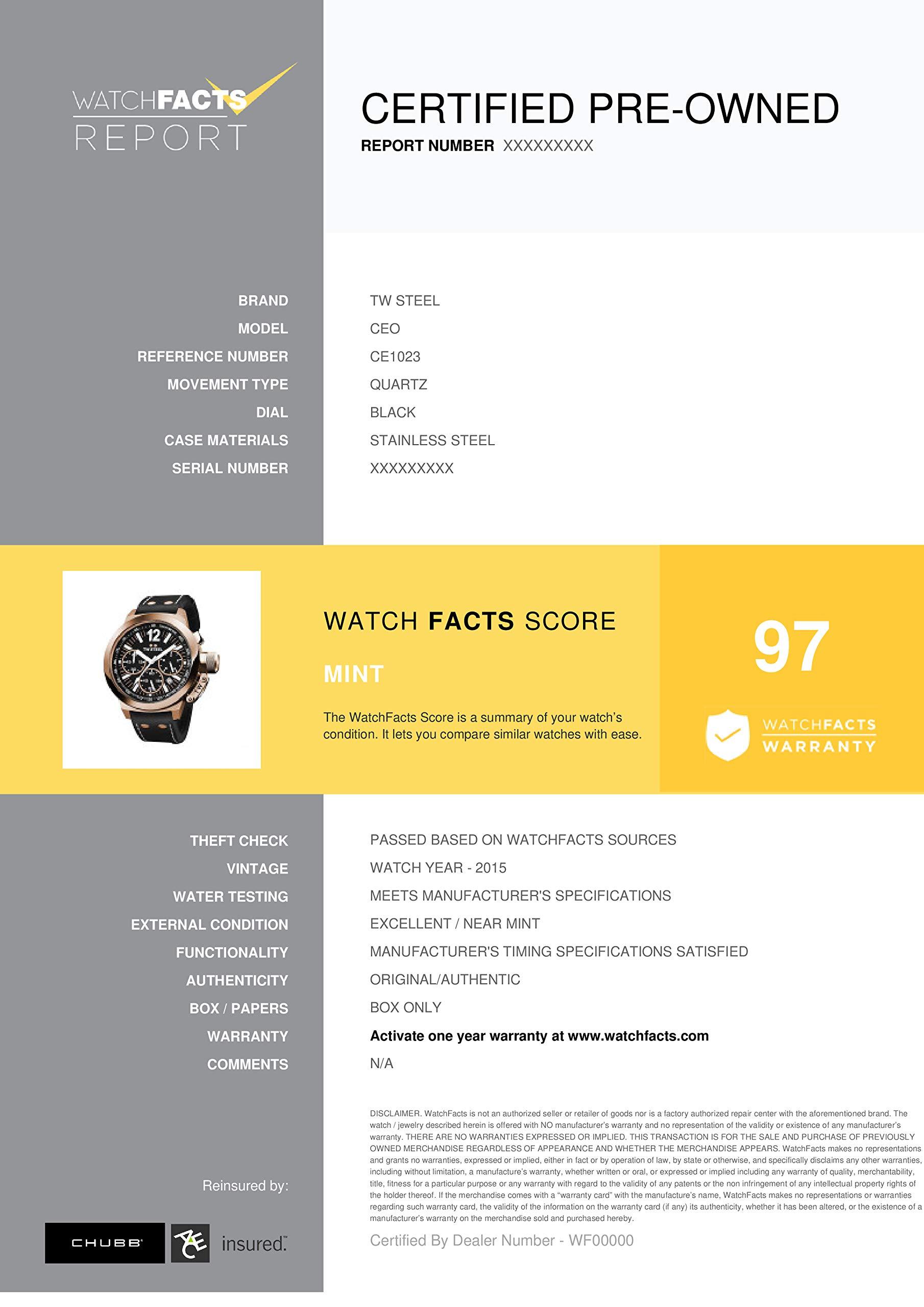 TW Steel CEO Quartz Male Watch CE1023 (Certified Pre-Owned) by TW Steel (Image #3)