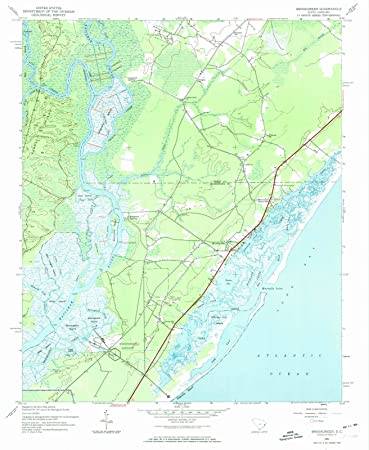 Amazon.com: South Carolina Maps | 1943 Brookgreen, SC USGS ...