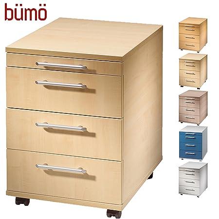 bümö ® cajonera con 3 cajones, Oficina Contenedor de madera, mesa ...