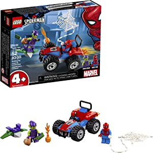 LEGO Marvel Spider-Man Car Chase 76133 Building Kit, Green Goblin and Spider-Man Superhero Car Toy Chase (52 Pieces)