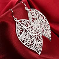 925 Silver Ladies' Earrings. with Flower Pendant. Earring droops for Women.