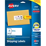 Avery Shipping Labels, Inkjet Printers, 250 Gift Labels, 2x4 Labels, Permanent Adhesive, TrueBlock (8163), White