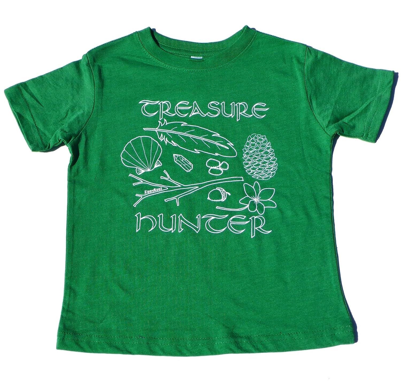 ZippyRooz Boys Toddler /& Little Kids Hiking Camping Tee Shirt Treasure Hunter