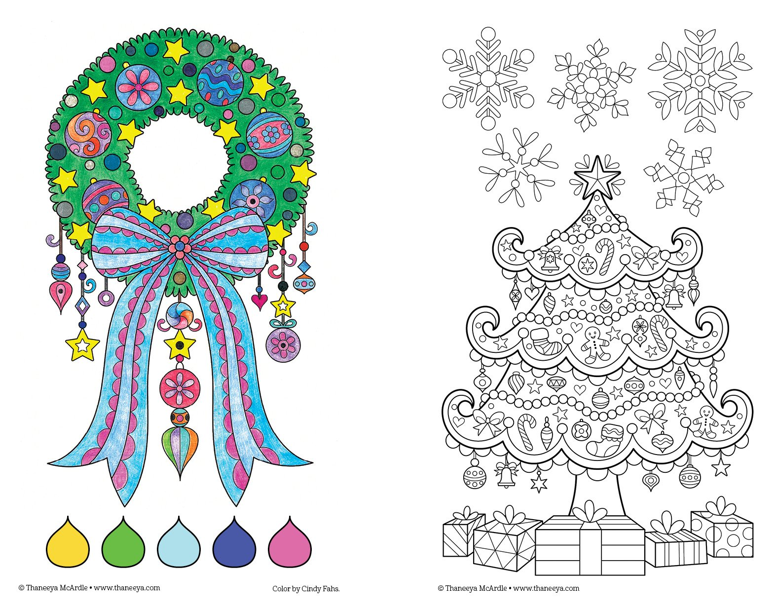 Amazon Com Color Christmas Coloring Book Perfectly Portable Pages