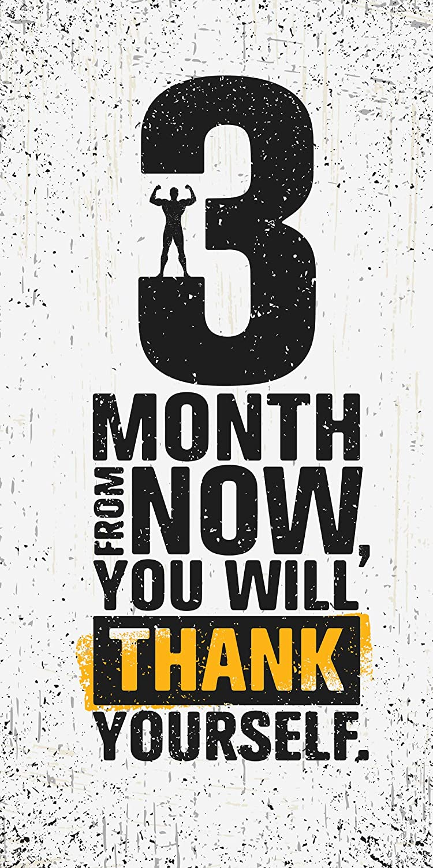 Entrenamiento Toalla Deportiva con Citas Frases de motivaci/ón Fitness Gimnasio Ejercicio Deporte 3 Months from Now, You Will Thank Yourself 50x100 cm