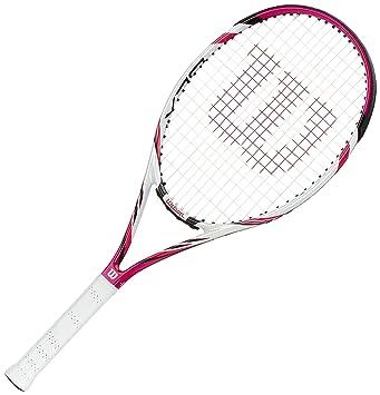 Wilson Six.Two TNS RKT W/O Raqueta de Tenis, Mujer, Rosa/Blanco/Negro (Pink/White/Black), 3: Amazon.es: Deportes y aire libre