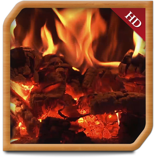 - Curly Wood Fireplace - Decor your TV Screen to get peaceful ambience