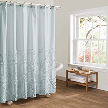 Lush Decor Lush Décor Esme Spa Shower Curtain, 72u0026quot; X 72u0026quot;, ...