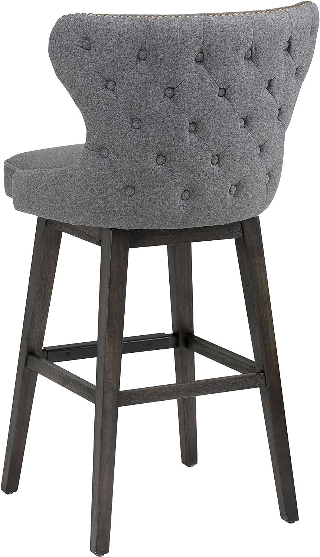 Sunpan Modern 101186 Ariana Swivel Barstool With Dark Grey Fabric Amazon Ca Home Kitchen