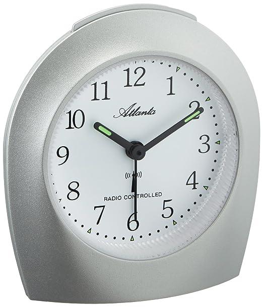 Atlanta 1375/19 reloj de repisa o sobre mesa Quartz table clock Plata Alrededor -