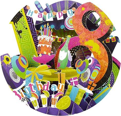 Art design pop up design Handmade card Happy Birthday// Personalised