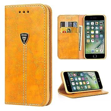 Funda iPhone 7, iDoer iPhone 7 Funda con tapa libro piel y TPU cartera cover Funda de cuero carcasa bumper protectores estuches soporte flip Case para ...