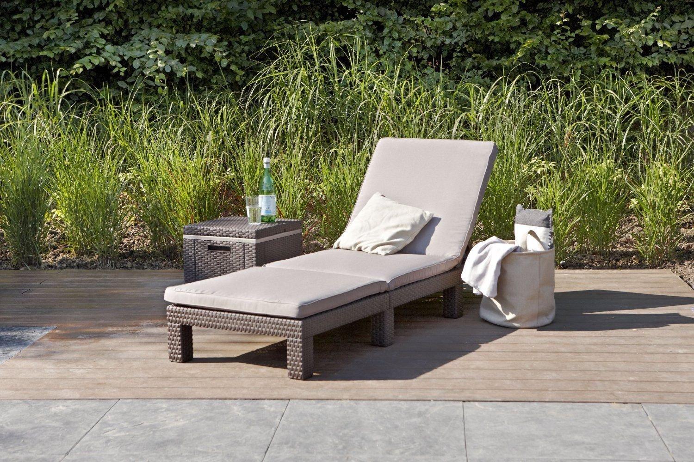 2er Set Allibert Daytona Sonnenliege Kunststoff Gartenmöbel