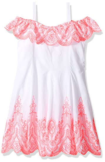 03caf72214f1 Amazon.com  Kate Mack Girls  Tropical Mermaid Embroidered Dress ...