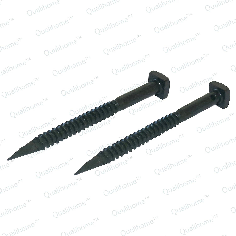 Pair of Large Textured Black Iron S Holdback Window Shutter Holders Qualihome 489300