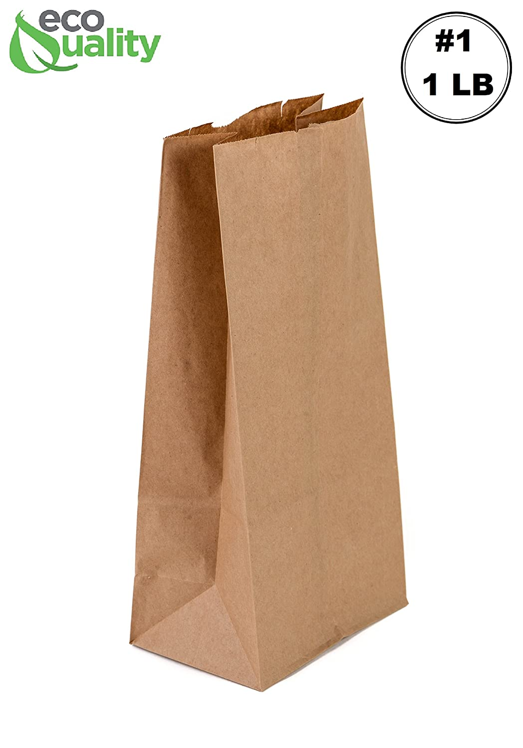 EcoQuality 1000 Mini Brown Kraft Paper Bag (1 lb) Small - Paper Lunch Bags, Small Snacks, Gift Bags, Grocery, Merchandise, Party Bags (3 1/2 x 2 3/8 x ...
