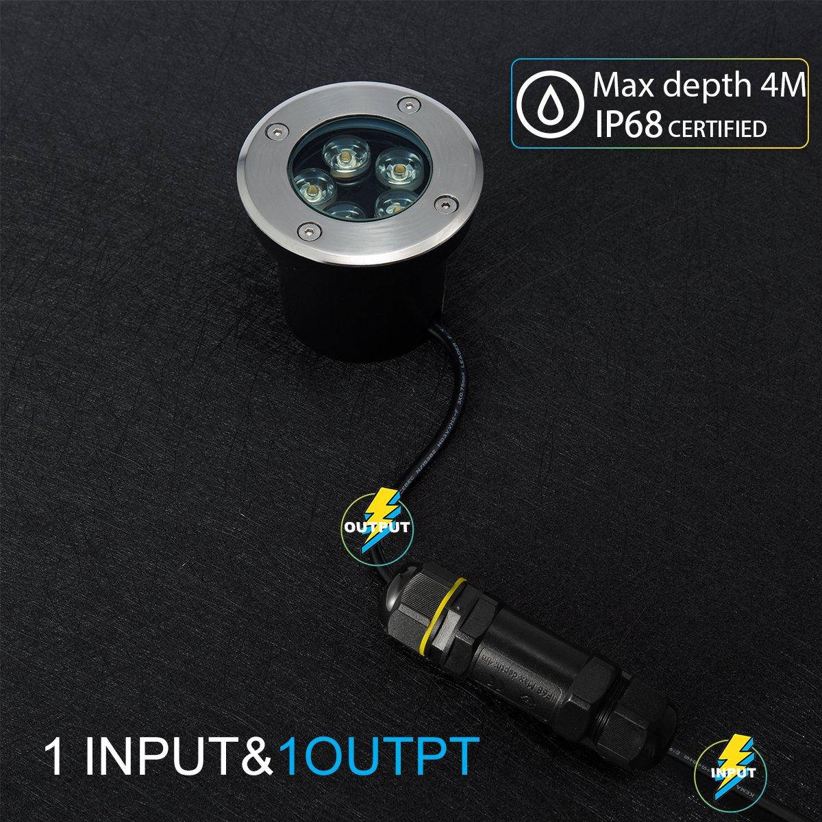 1 pack 5-Polige Verbindungsmuffe Kabelverbinder Muffe Wasserdicht IP68 Verbindungsbox f/ür /Ø1-14 mm Kabeldurchmesser