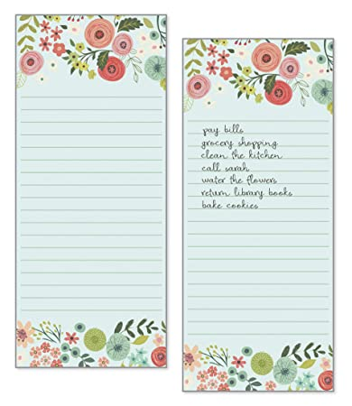 Stationery Floral Magnetic Shopping List Pad Brand New