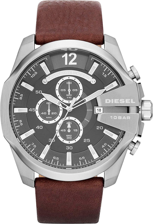 Diesel Reloj Cronógrafo para Hombre de Cuarzo con Correa en Piel DZ4290: Diesel: Amazon.es: Relojes