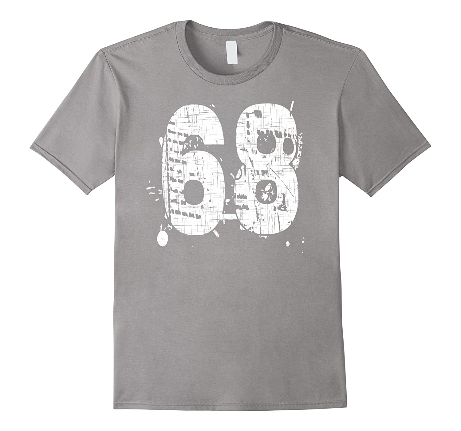 68 Team T-Shirts printed front and back in super grunge-PL