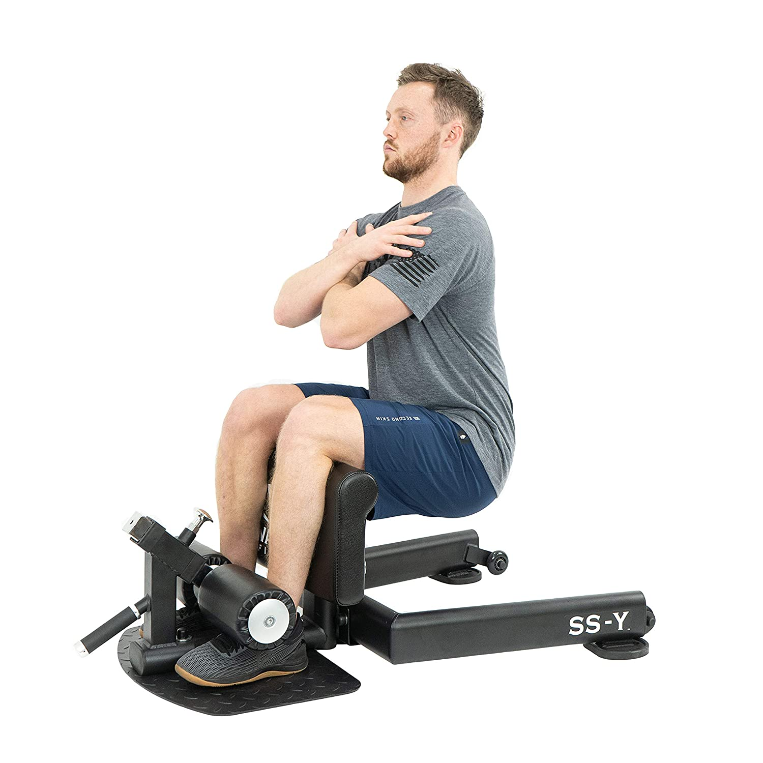 Buy Valor Fitness SS-Y Sissy Squat Machine Bench for Strengthening Legs,  Glutes, Core, and Calves with Wheels and Floor Foot Plate Online at Low  Prices in India - Amazon.in