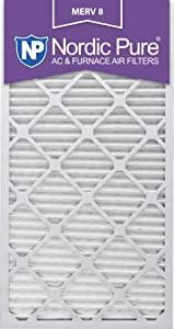 Nordic Pure 20x30x1 MERV 8 Pleated AC Furnace Air Filters 20x30x1M8-6 6 Pack