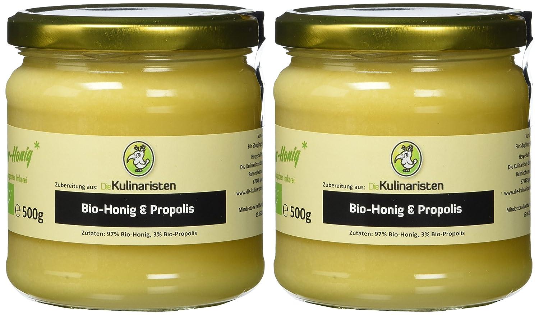 Bio-Honig mit Propolis, 2er Pack (2 x 500 g)