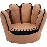 Costzon Children's Sofa, Baseball Glove Chair for Kids, Sturdy Wood Construction, Toddler Armchair Living Room Seat…