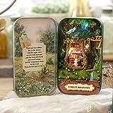 Ogrmar DIY Dollhouse Miniature Box Theatre Idea Art Handicraft Gift for Birthday/Valentine's Day (Forest Rhapsody)