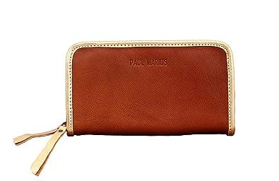 collection de remise expédition de baisse Style magnifique Paul Marius MON COMPAGNON Naturel Doré portefeuille femme cuir souple