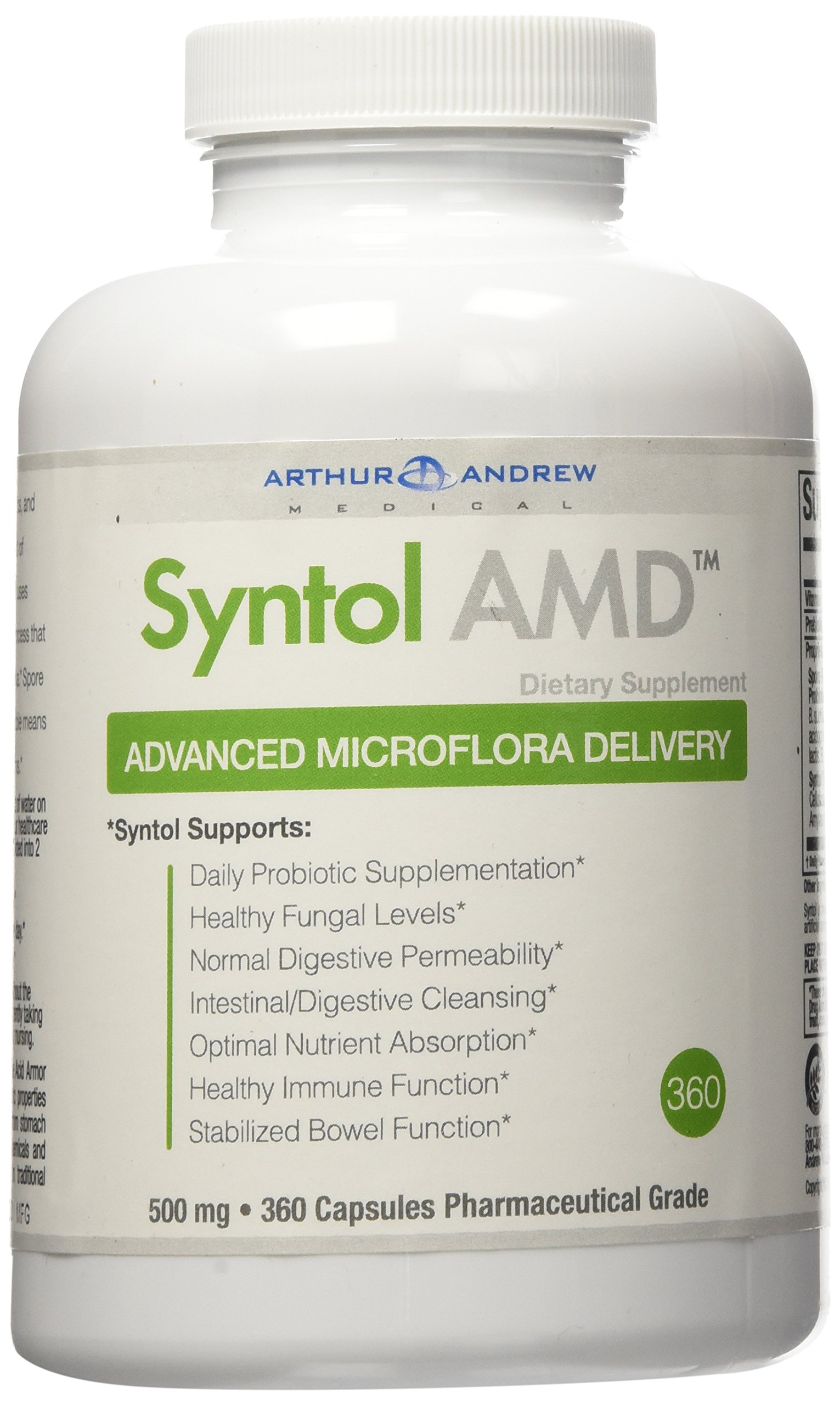 Arthur Andrew Medical - Syntol, 360 capsules,500 mg