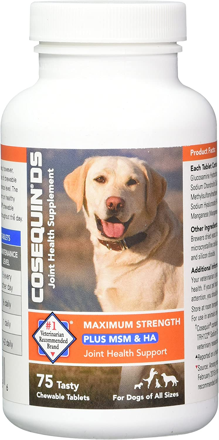 Cosequin Plus MSM and HA Chewable Tablets, 75 ct