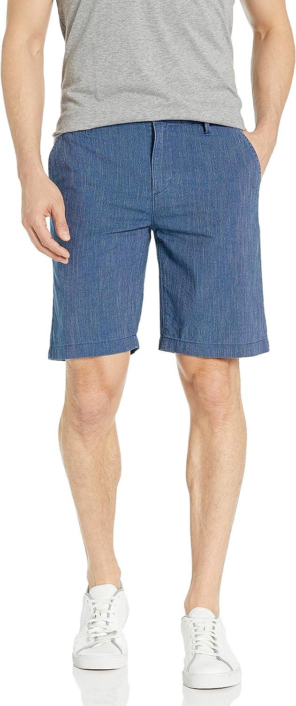 PAIGE Men's Thompson Flat Front Short in Baja Blue