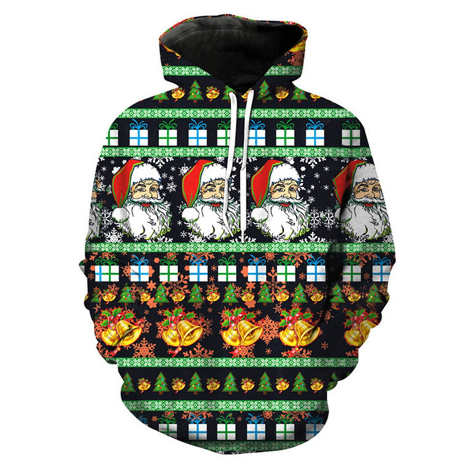 Matterin Christiao Christmas Print Hooded Sweatshirt Men Women New Autumn 3D Mens Hoodies Harajuku Hip Hop Pullover at Amazon Mens Clothing store: