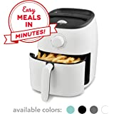 Dash DCAF200GBWH02 Tasti-Crisp Electric Air Fryer + Oven Cooker with Temperature Control, Non Stick Fry Basket, Recipe Guide + Auto Shut Off Feature, 2.6Qt, White