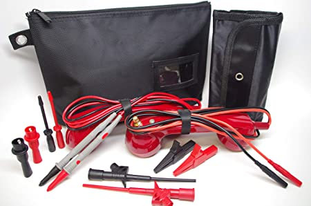 ME003-Black Loop Check Electrician Test Phones Cable Tracer Set