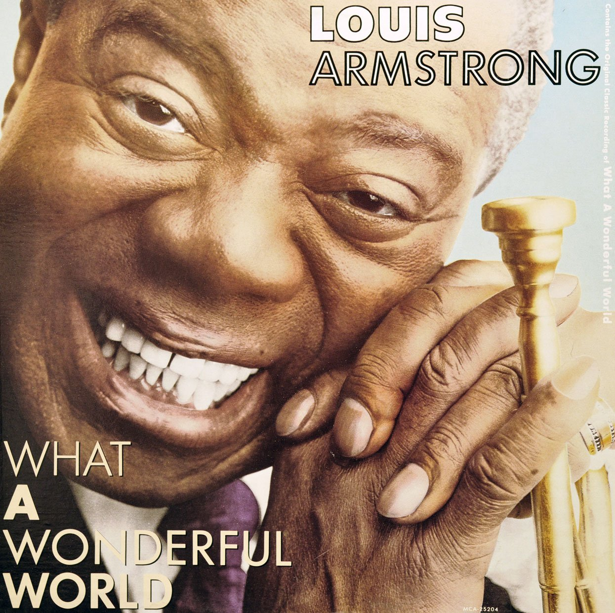 Image result for louis armstrong, what a wonderful world