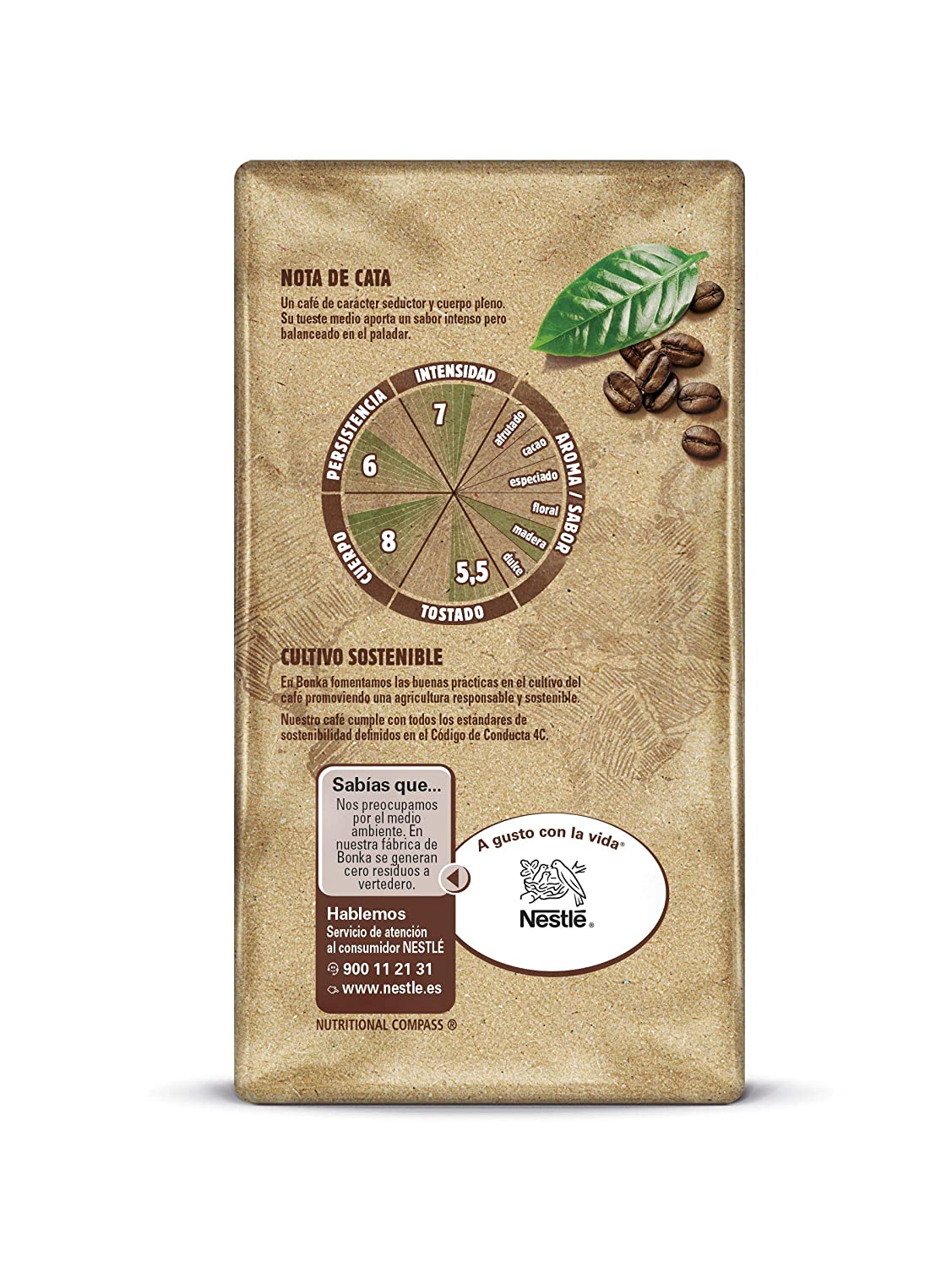 Bonka Café molido de tueste natural y cultivo sostenible: Amazon.es: Amazon Pantry